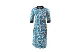 Dress Zipper BLOSSOM PETROL BLUE