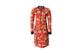 Dress Zipper RED FLOWER