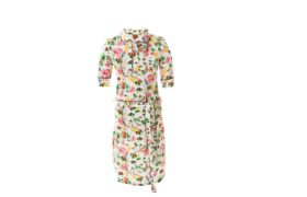 Dress Polo WHITE FLOWERS