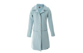 Long Jacket BASIC MIDDENBLAUW